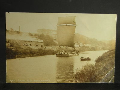 Lot 462 Canal Photo Postcard c1905 The Canal Near Warmsworth