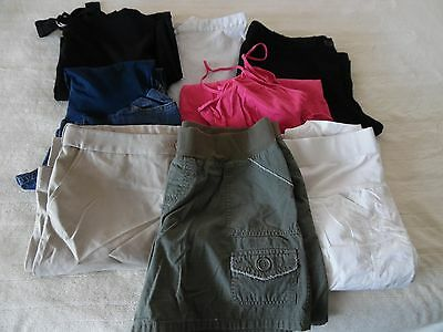 Lot Of Maternity Clothes~Size M~Slacks,shorts& More~8 Pieces