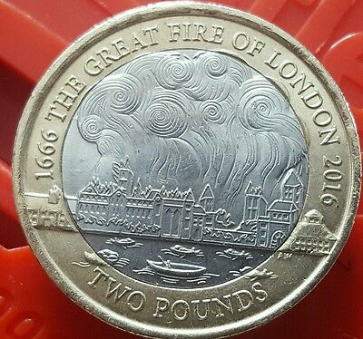 Rare £2 The Great Fire Of London 1666 £2 Coin 2016����������