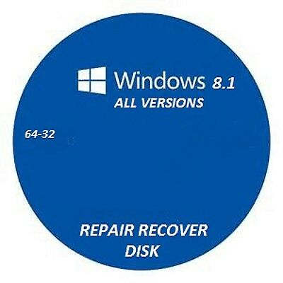 windows 8.1 repair recovery disk all versions 32-64