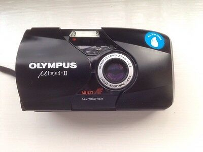 Olympus mju II Stylus Epic with sharp f2.8 lens. Excellent condition