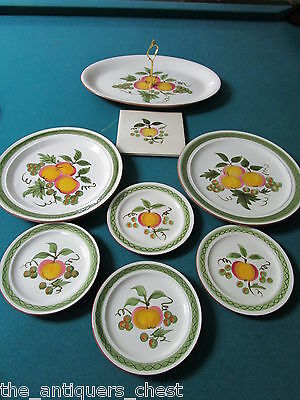 STANGL Apple Delight # 5161 DISCONTINUED. years 1965 - 1978 set of 8 pcs[113]