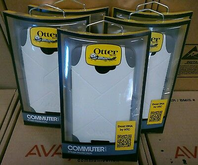Lot of 5 Otterbox Commuter Series White/Gray Cell Phonecase for Droid DNA By HTC