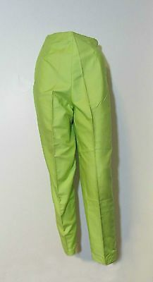 1950s Alfred Paquette High Waist Cigarette Marilyn Capri Pants Lime Green~ XS