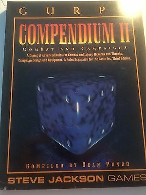 GURPS: Compendium II 2: Combat and Campaigns Steve Jackson Games RPG GOOD USED