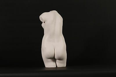 Erotic Marble Bust of a Female Torso Sculpture. Art, Gift, Ornament.