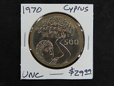 1970 Uncirculated Cyprus 500 Mils