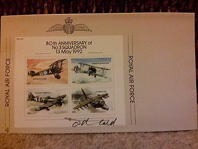 Miniature sheet on cover. Signed by designer Tony Theobald. JSF20.