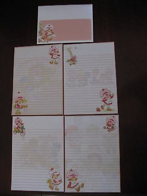 Strawberry Shortcake STATIONARY set paper mini letterhead envelopes vintage