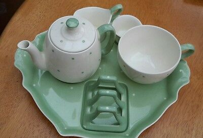 Vintage royal winton tea for one set and tray