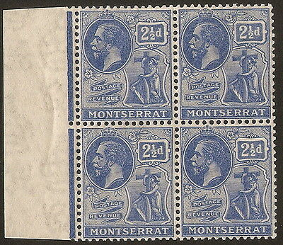 1926  2.1/2d  PALE BRIGHT BLUE  SG 71a   BLOCK OF 4   UNMOUNTED MINT
