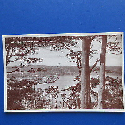Old Postcard of  View from Skipper's Wood, Rothesay.