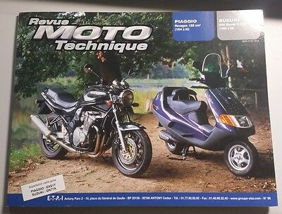 revue moto technique n°99 suzuki 600 bandit N&S / piaggio hexagon 125