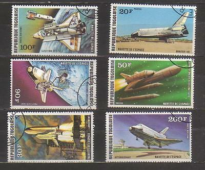 4631-Space – Togo complete set Yvert 903-5+PA328-30 used