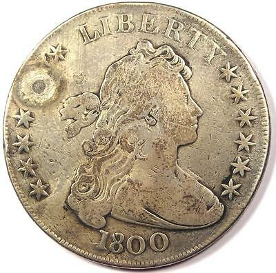 1800 Draped Bust Silver Dollar $1 - Fine Details - Rare Type Coin!