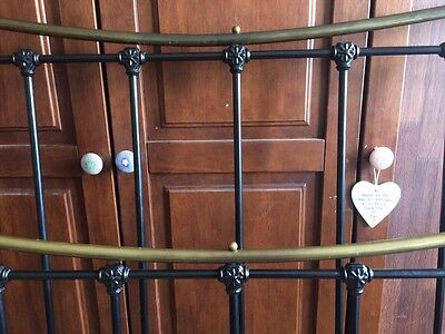 Victorian Style Brass And Iron Double Bed Frame