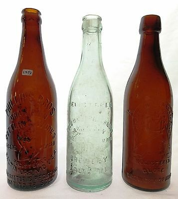 Baltimore, MD - Lot of 3 Circa 1890-1915 Beers