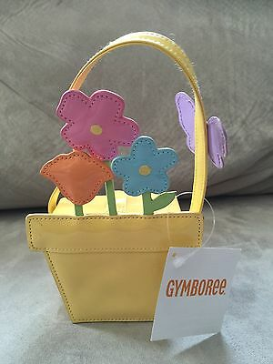 "NWT Gymboree ""Butterfly Blossoms"" Flower Pot Purse"