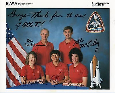 Astronaut Archives Offers Complete Crew Signed Sts 34 Crew Official Nasa Litho