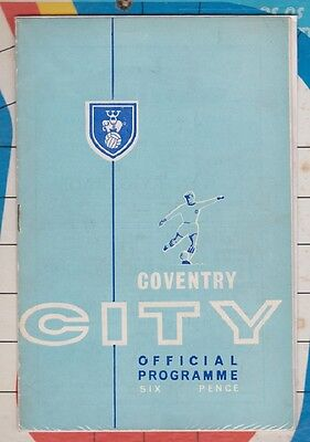 Coventry City v Mansfield Town League Cup Match Programme 1964-65