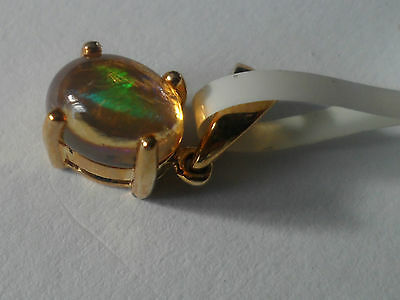 (#32 ) L@@k Genuine 9K Gold Mexican Jelly Opal Pendant Wow Beautiful Colours.