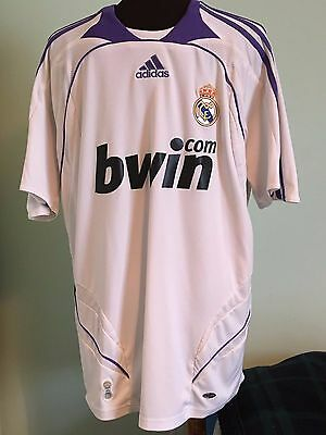 Official Retro Real Madrid Away Football Shirt By Adidas Size Adult Medium