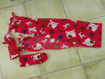 Girls Hello Kitty Fleece Scarf and Mittens