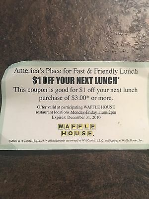 Waffle House --The Waffle House Discount Card From 2010