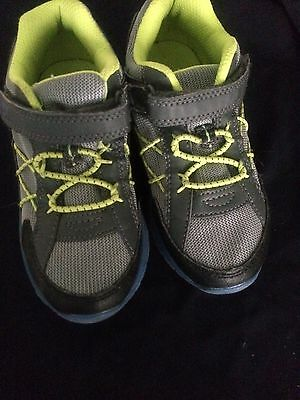 boys Blue grey and yellow Oshkosh sneakers size 12