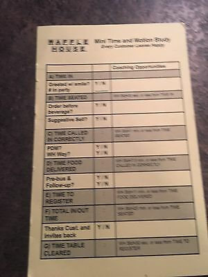 Waffle House --The Waffle House Sales Person Coaching Card From 2009