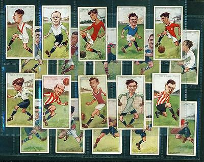 24 x FOOTBALLERS, CARICATURES BY 'RIP' – PLAYERS – 1926