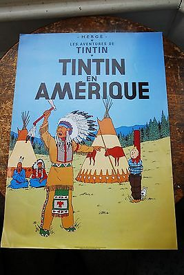 Tintin Poster, Herge, Collectable, Tintin In America,