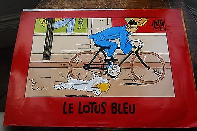 Tintin Poster, Herge, Collectable, The Blue Lotus