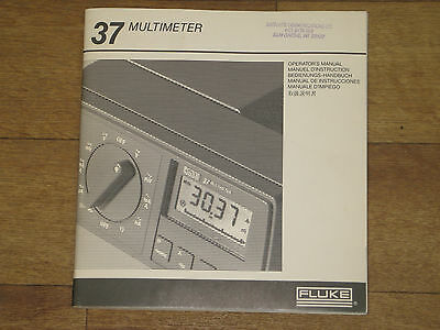 Fluke model 37 Multimeter Manual