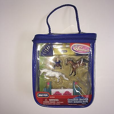NEW Breyer Mini Whinnies Canadian Rockies Show Jumping Derby Playset Horses