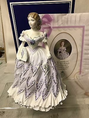 "Royal Worcester  Large Figurine ""the Last Waltz "" Boxed"