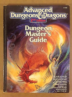 Dungeons & Dragons TSR DM's Guide, Advanced D&D 2nd edition, fantasy rpg 1980's