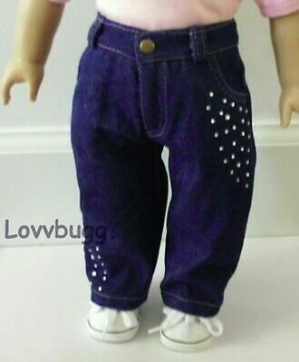 "Blue Jeans Denim Pants for 18"" American Girl Doll Clothes LOVVBUGG ACCESSORIES!"
