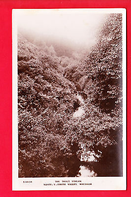 Postcard - WREXHAM Nanty-y-Ffrith Valley - THE TROUT STREAM - Bridge House RP