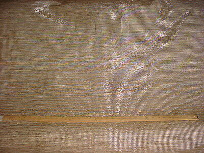 12+Y Donghia Rubelli Metallic Silver / Golden Gilt Weave Upholstery Fabric