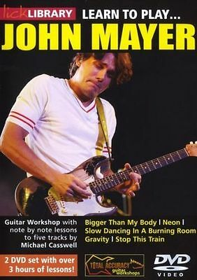 Lick Library: Learn to play John Mayer DVD (2 DVD set) Lesson Tutor GUITAR