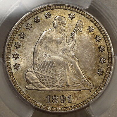 1891-S Seated Liberty Quarter, Original Choice Uncirculated Coin, PCGS Certified