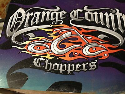 ORANGE COUNTY CHOPPERS Metal sign