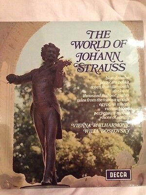 "Vinyl LP record ""The World of Johann Strauss"""