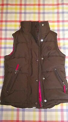TAGG girl's equestrian gilet brown