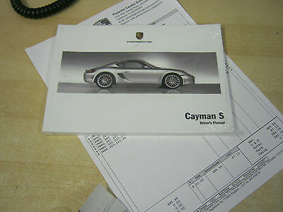PORSCHE CAYMAN  S  OWNERS MANUAL HANDBOOK  2005-2009 NEW IN WRAPPER genuine
