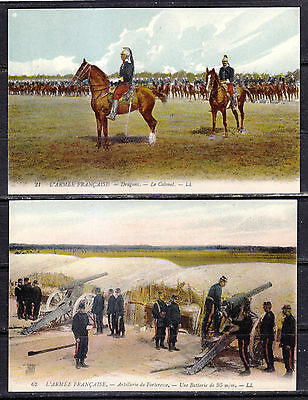 French Army, 5 Different Post Cards, LL