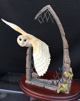 "Border Fine Arts Border "" Barn Owl In Church Window """