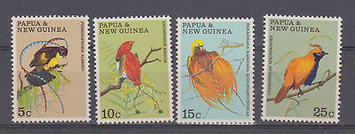 Stamps Papua New Guinea 1970 Birds of Paradise set of 4 MNH