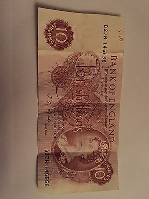 Bank Of England 10 Shilling Bank Note/ 1 Day!!!!!